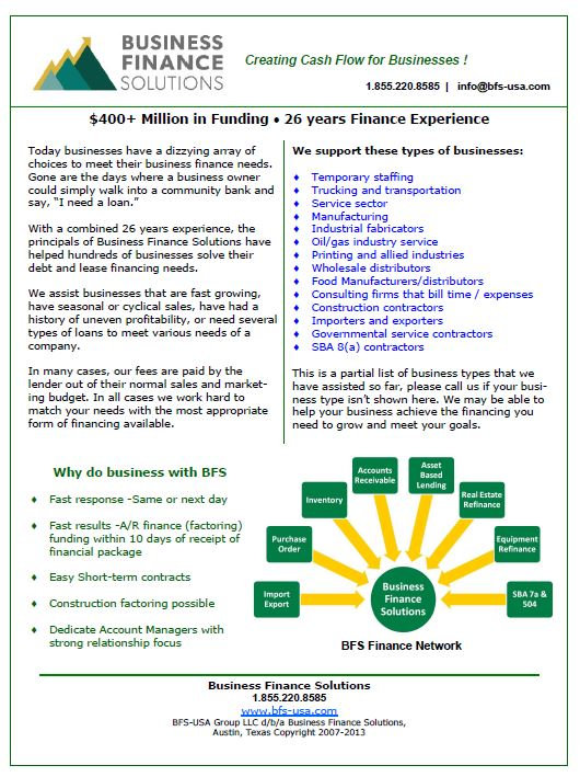 Financing for Businesses