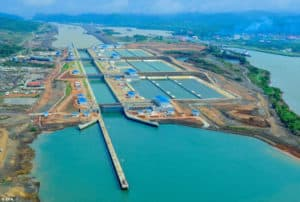 The new Panama Canal can handle ships up to 160 feet wide and 1,200 feet long. Many times the size of the old canal.